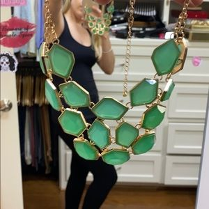 Gold + Green Statement Necklace